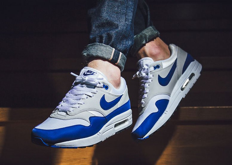 Nike Air Max 1 Anniversary Royal On Feet