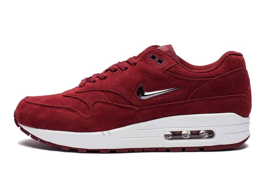 Nike Air Max 1 Jewel Red Suede 918354-600