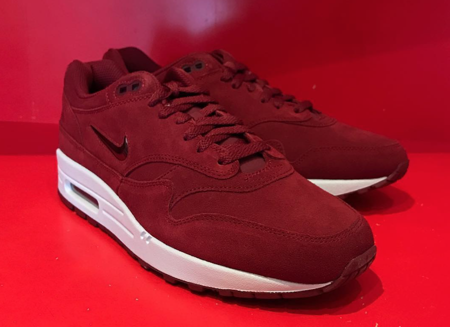 Nike Air Max 1 Jewel Red Suede Release Date