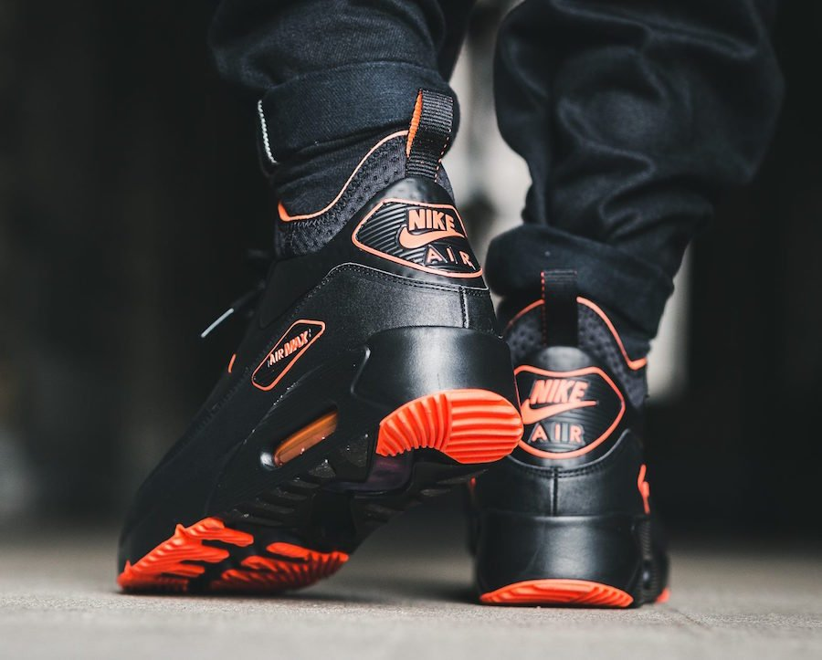 nike air max 90 ultra mid winter se black crimson