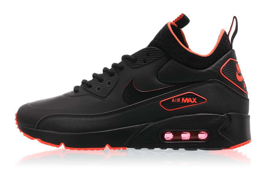 Nike Air Max 90 Ultra Mid Winter Black Total Crimson ...