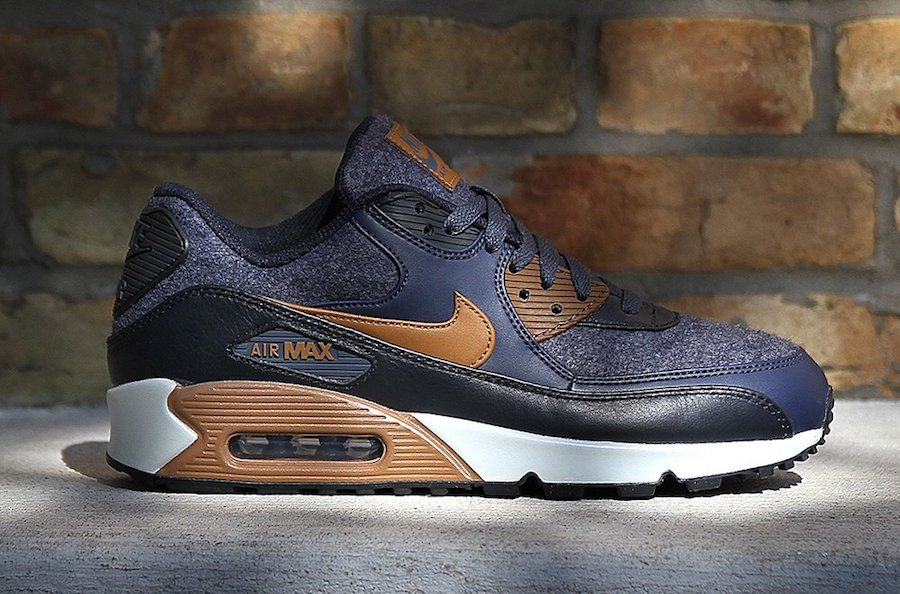 3ff0155e5a73 Nike Air Max 90 Wool Thunder Blue 700155-404