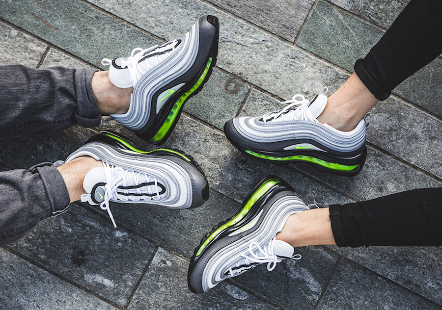 cheap for discount 63fe1 df3c1 ... authentic nike air max 97 neon on feet b97a2 68766