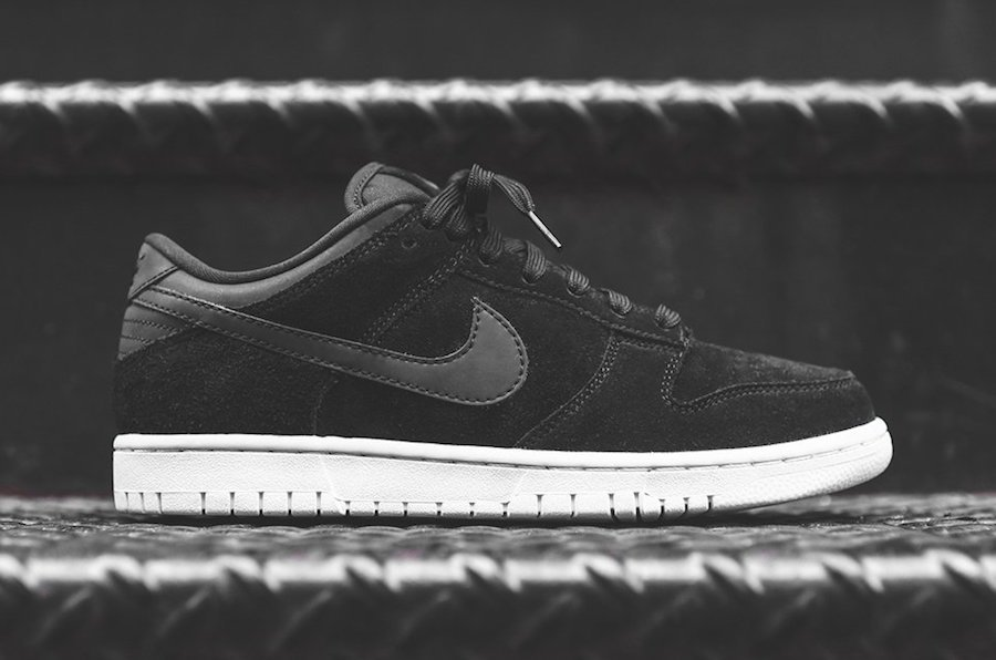 Nike Dunk Low Black Suede