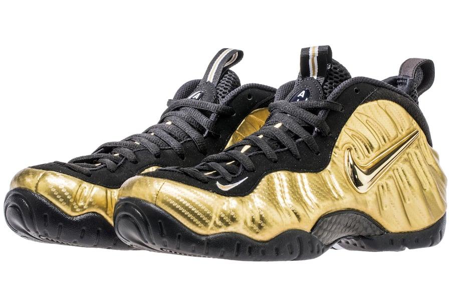 hot sales b69d3 4be64 official nike air foamposite pro black metallic gold 8552d 4ca5f  promo  code nike foamposite pro met gold 624041 701 a89c2 d91d8