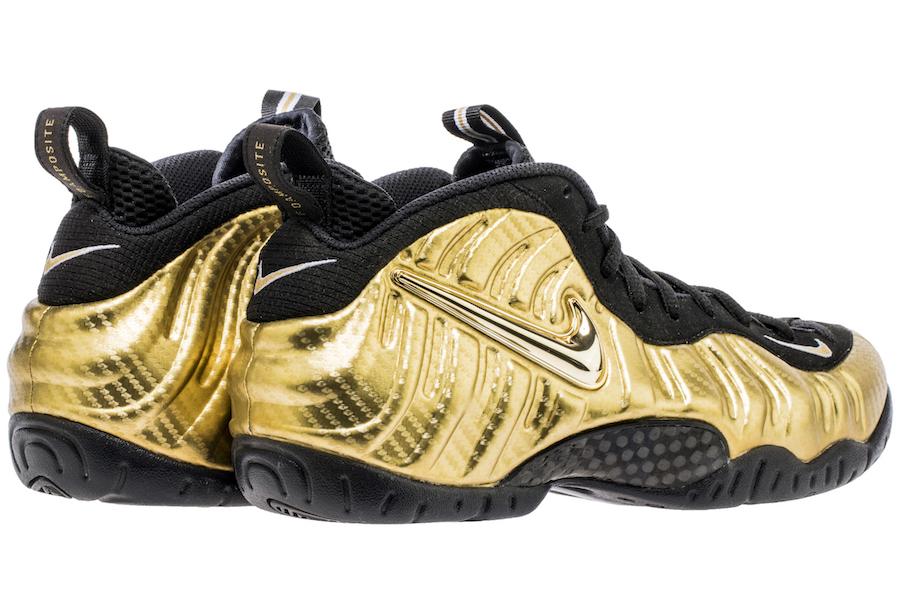 Nike Foamposite Pro Met Gold 624041-701