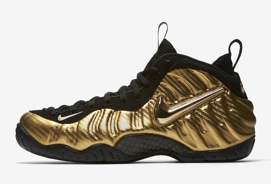 Nike Foamposite Pro Metallic Gold Release