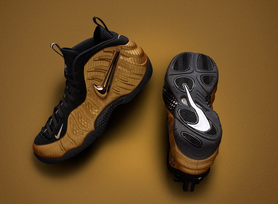 new product e0356 a1e43 Nike Air Foamposite Pro Metallic Gold 624041-701 Release ...