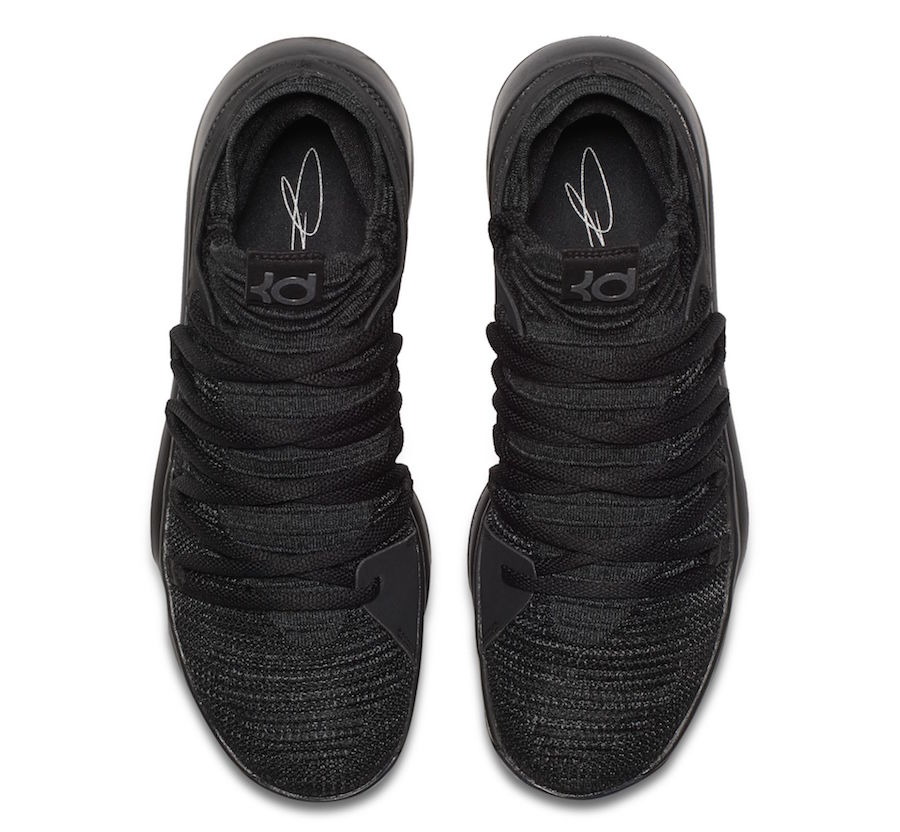 ... new specials 59461 ad1c3 Nike KD 10 Triple Black 897816-004 Release  Date SneakerFiles ... 3f67bf529