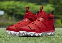 Nike LeBron Soldier 11 Cleat Ohio State AO9146-600