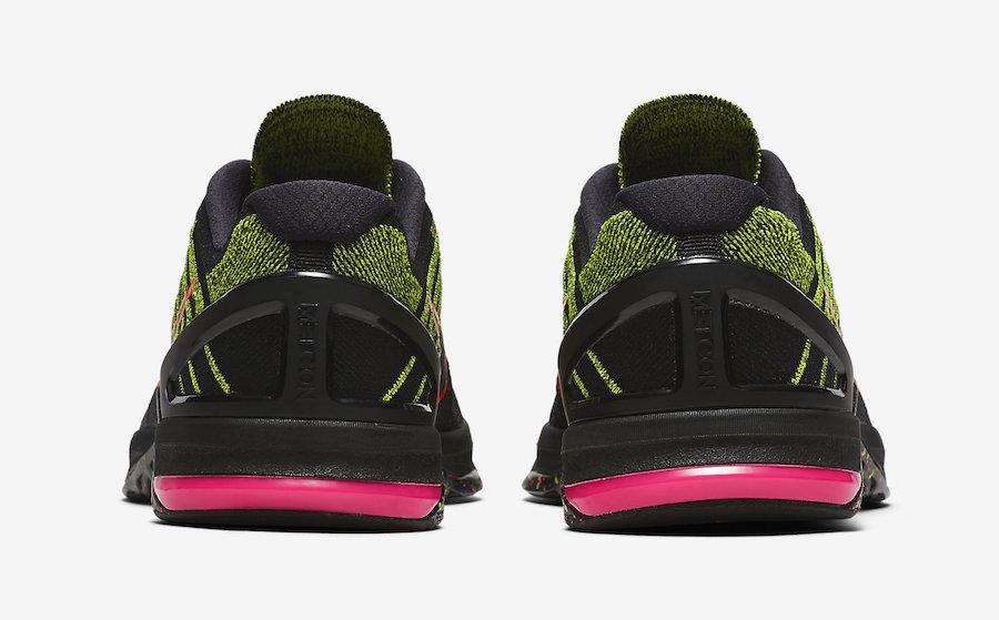 Nike MetCon DSX Flyknit Black Pink Volt