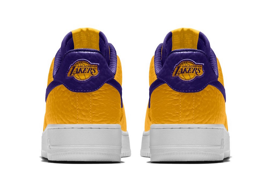 NikeID NBA Air Force 1 Low Lakers