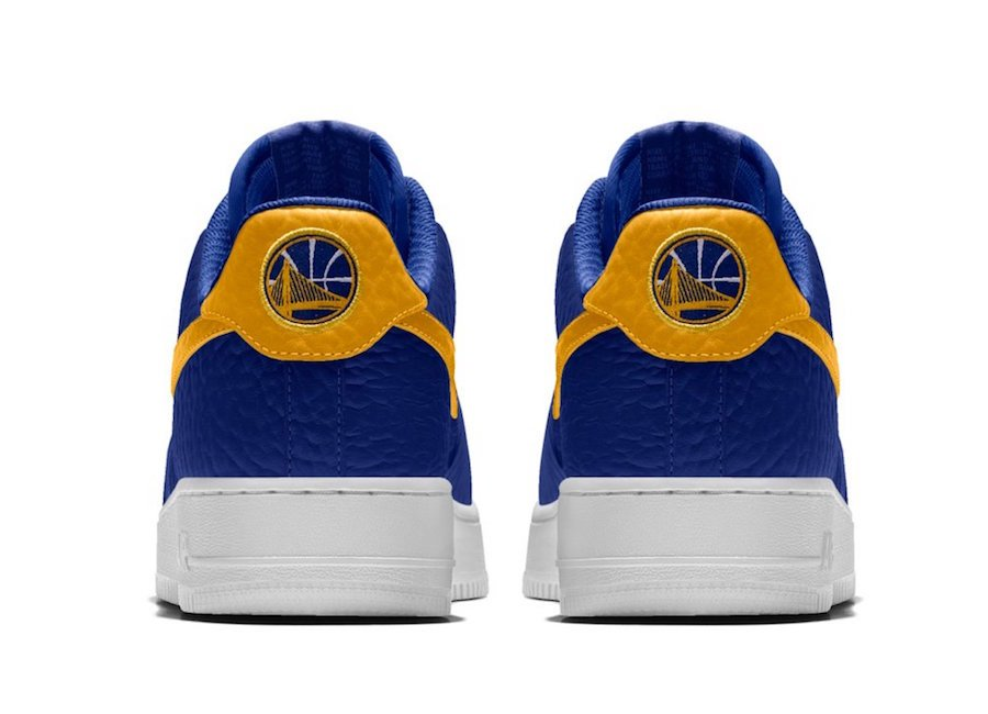 NikeID NBA Air Force 1 Low Warriors