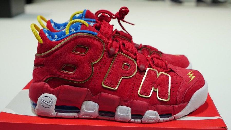 Red Nike Air More Uptempo Doernbecher Wonder Woman