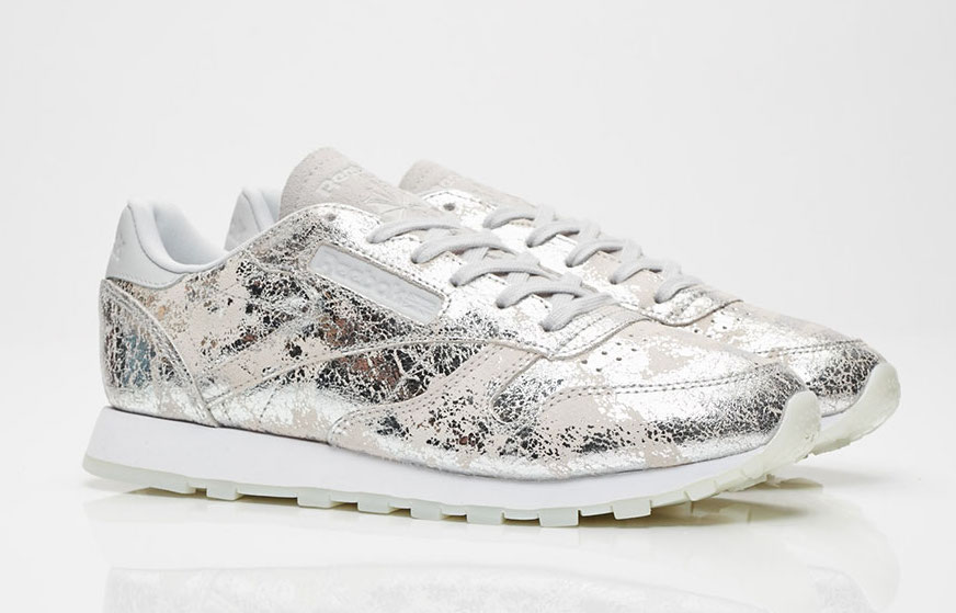 Reebok Classic Leather Silver Metallic BS6785
