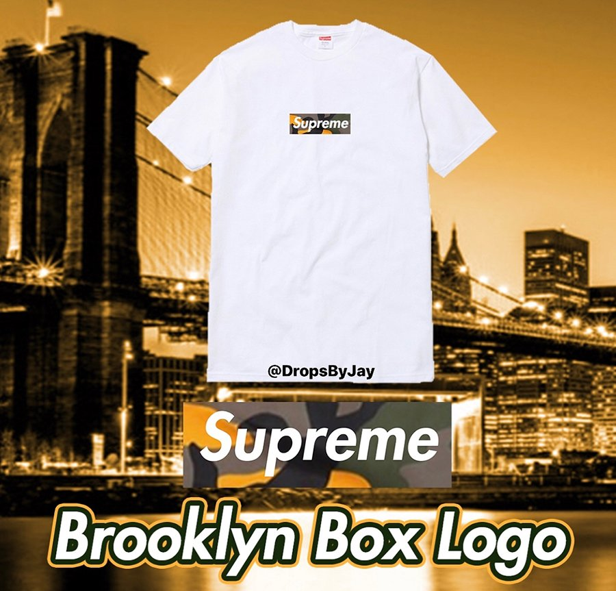Supreme Box Logo Camouflage Shirt Brooklyn