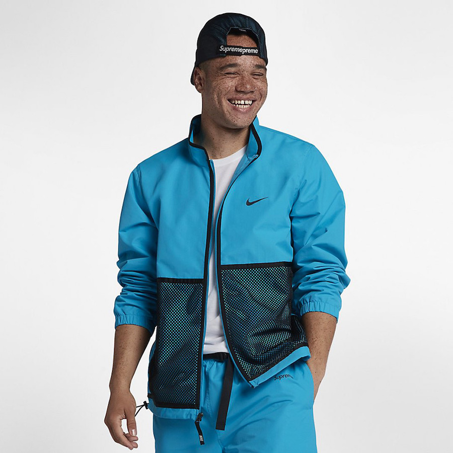 Supreme Nike Track Jacket Blue