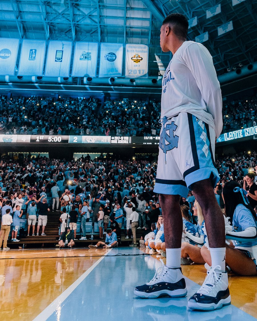 premium selection 49758 fbc97 UNC Air Jordan 11 Win Like 82 Banner Night | SneakerFiles
