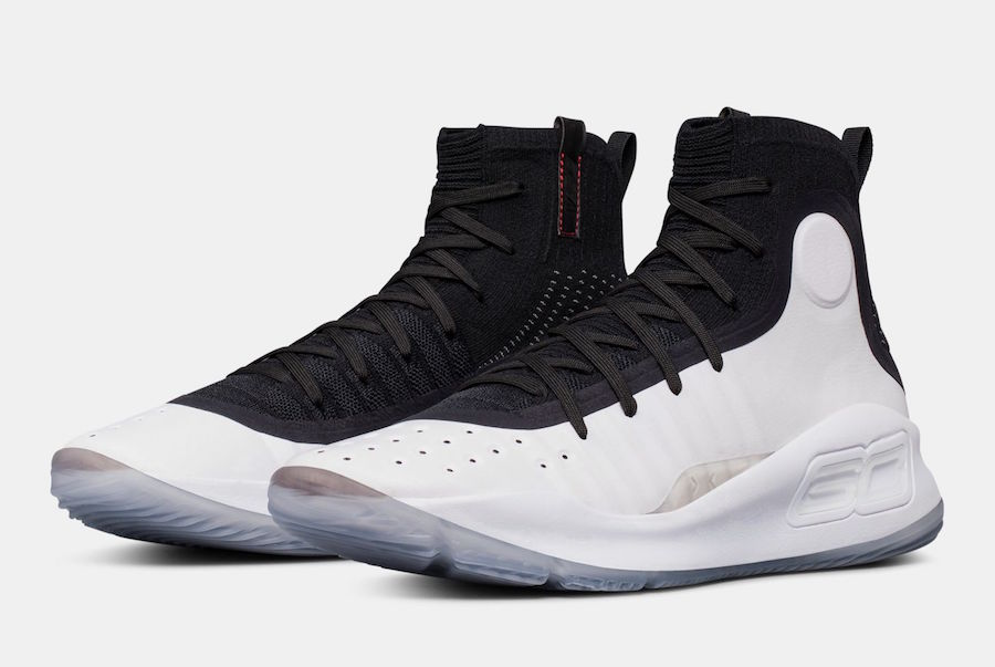 Under Armour Curry 4 Black White Release Date