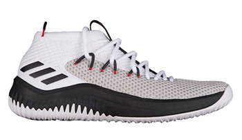adidas Dame 4 White Black Red