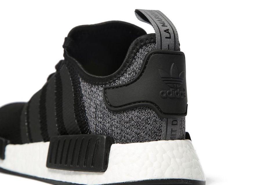 adidas NMD R1 Black Wool Heels