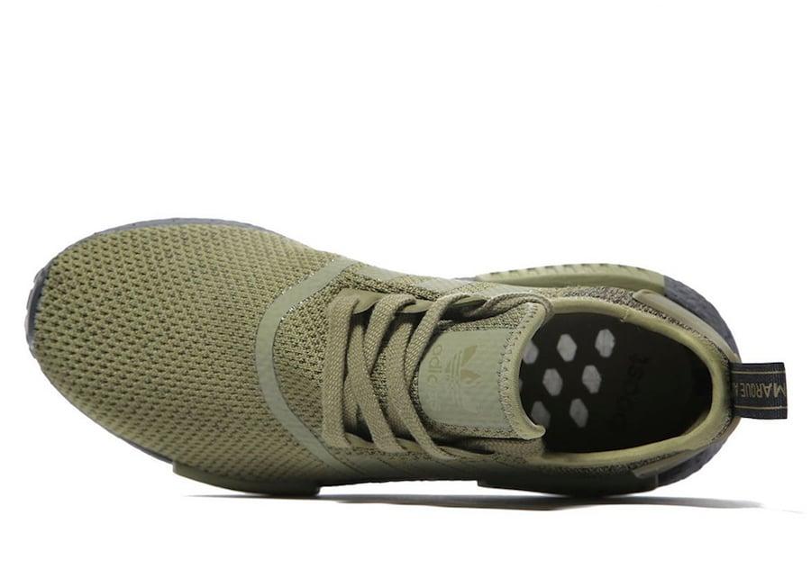 adidas NMD R1 Olive Wool Heel