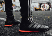 adidas Soccer Skystalker Collection Black Red Gold