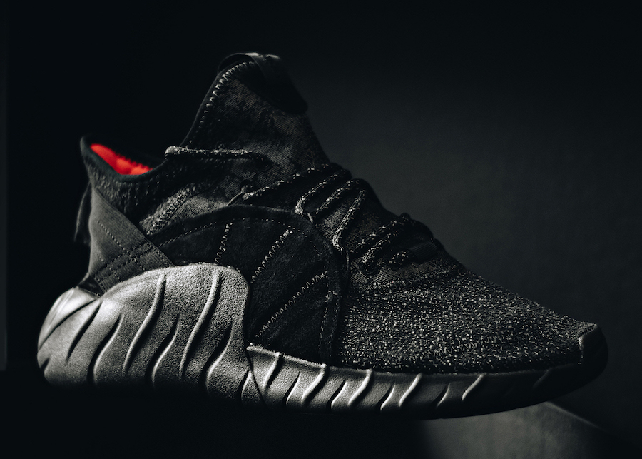save off 711ff e21d4 adidas Tubular Rise Core Black Red BY3557