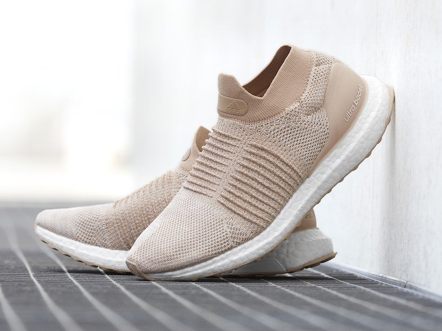 adidas Ultra Boost Laceless Nude