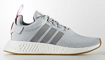 adidas Womens NMD R2 Grey Shock Pink
