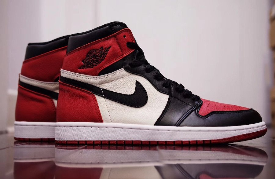Air Jordan 1 Bred Toe 2018