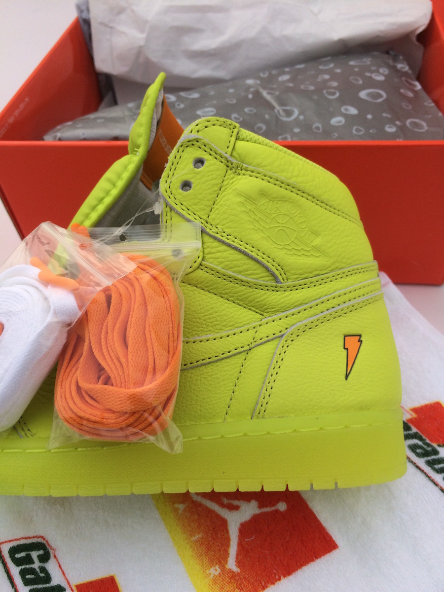 87382774160 Air Jordan 1 Gatorade Lemon Lime Cyber AJ5997-345