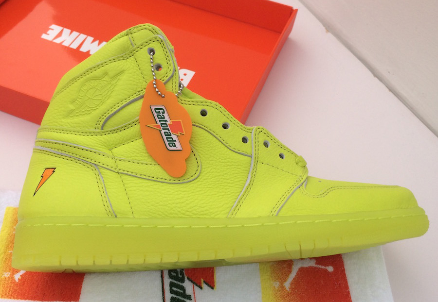 400d3f548d12 Air Jordan 1 Gatorade Lemon Lime Cyber AJ5997-345