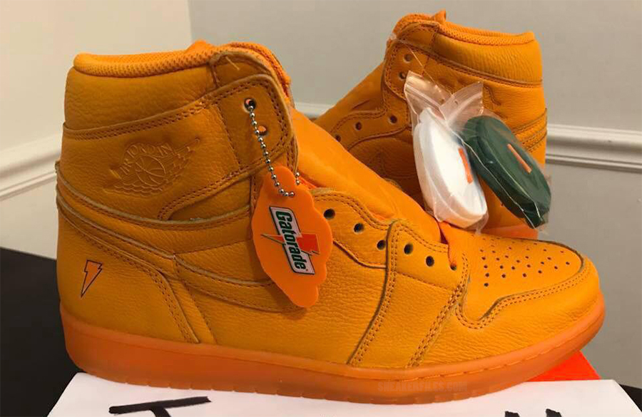 Air Jordan 1 Gatorade Orange Peel December 2017