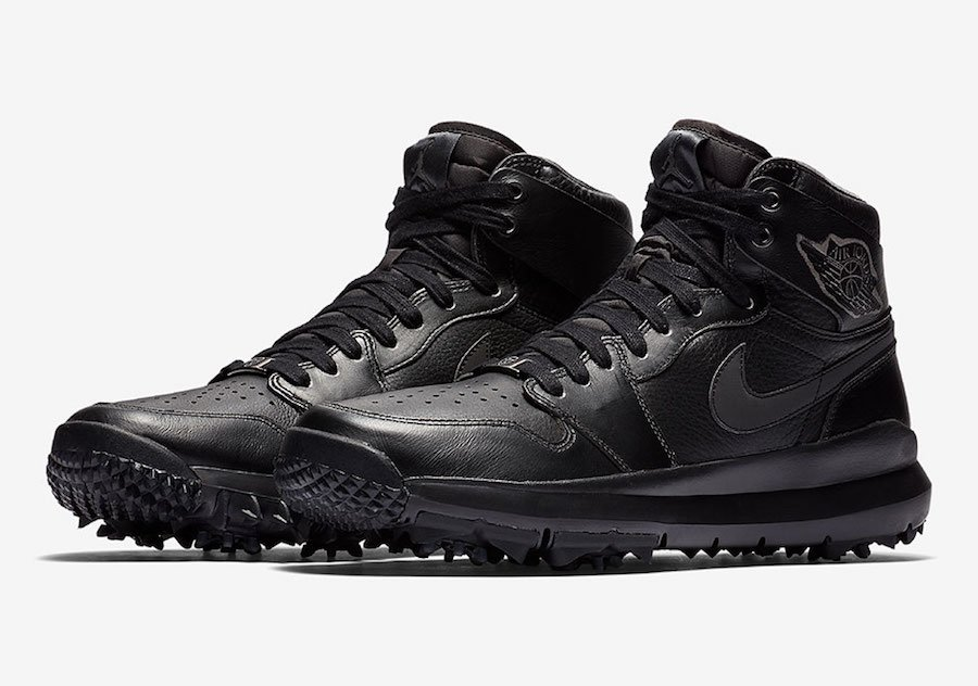 air jordan 1 golf premium black