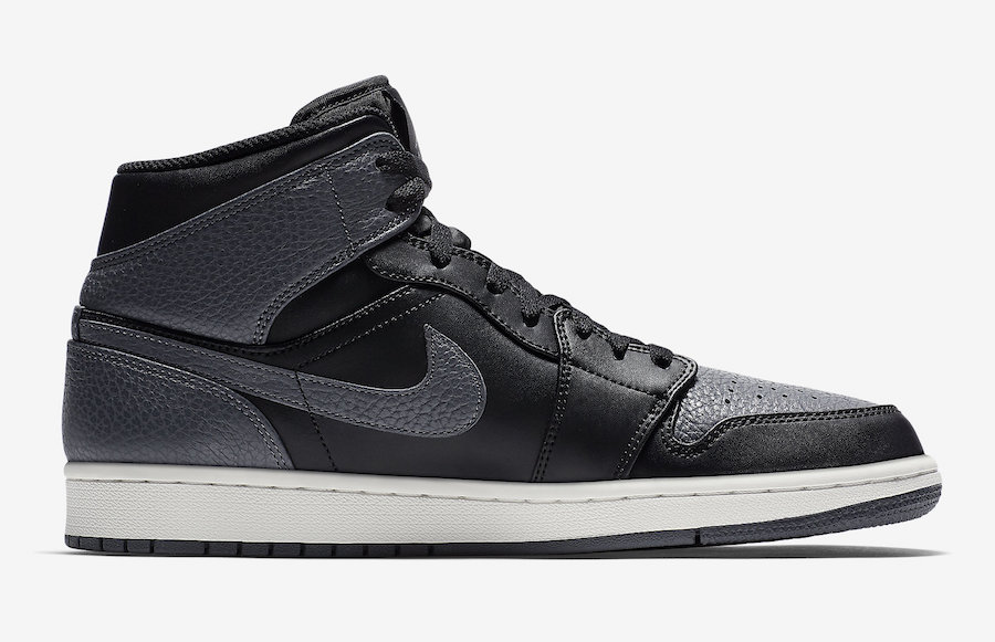 Air Jordan 1 Mid Dark Grey White 554724-041