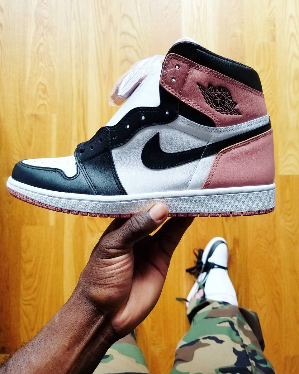 Air Jordan 1 Pink Black Toe 861428-101