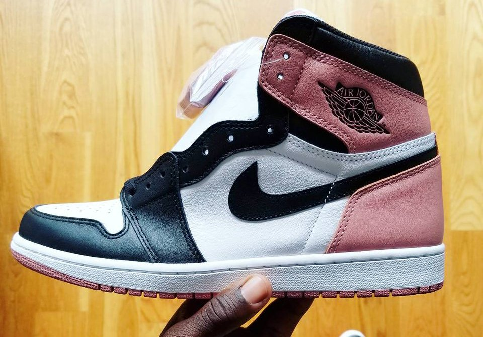 uk availability 61ab6 3aeb8 Air Jordan 1 Pink Black Toe 861428-101