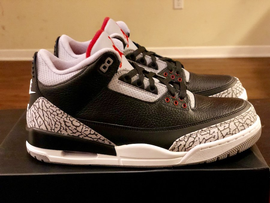 timeless design 9a7f8 9a98b Air Jordan 3 OG Black Cement 2018 Release Date | SneakerFiles