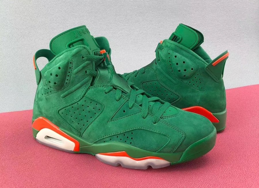 Air Jordan 6 Gatorade Green Suede December 2017