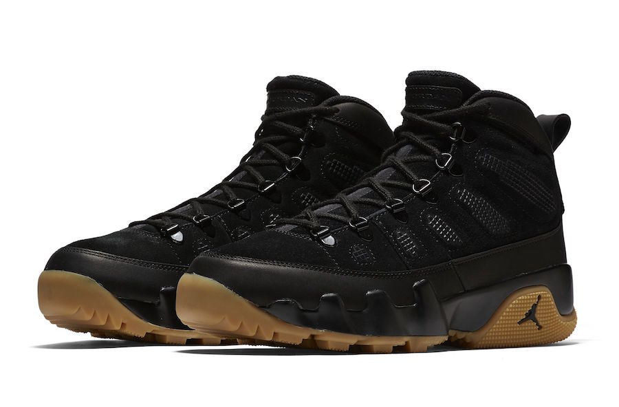 air jordan ix boot nrg black gum leaves