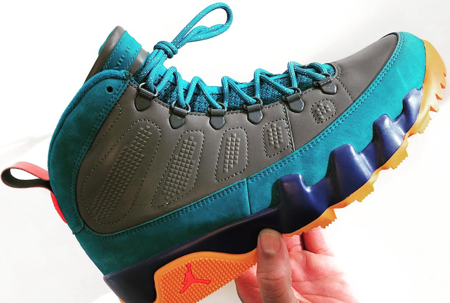 Air Jordan 9 Boot Multicolor Teal Purple Orange