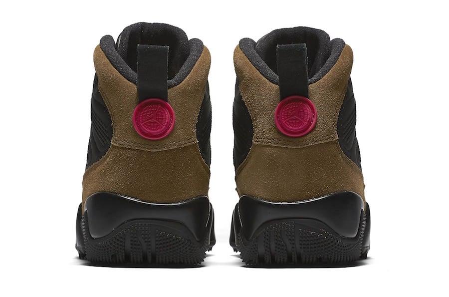 Air Jordan 9 Boot NRG Black True Red Light Olive AO4690-012