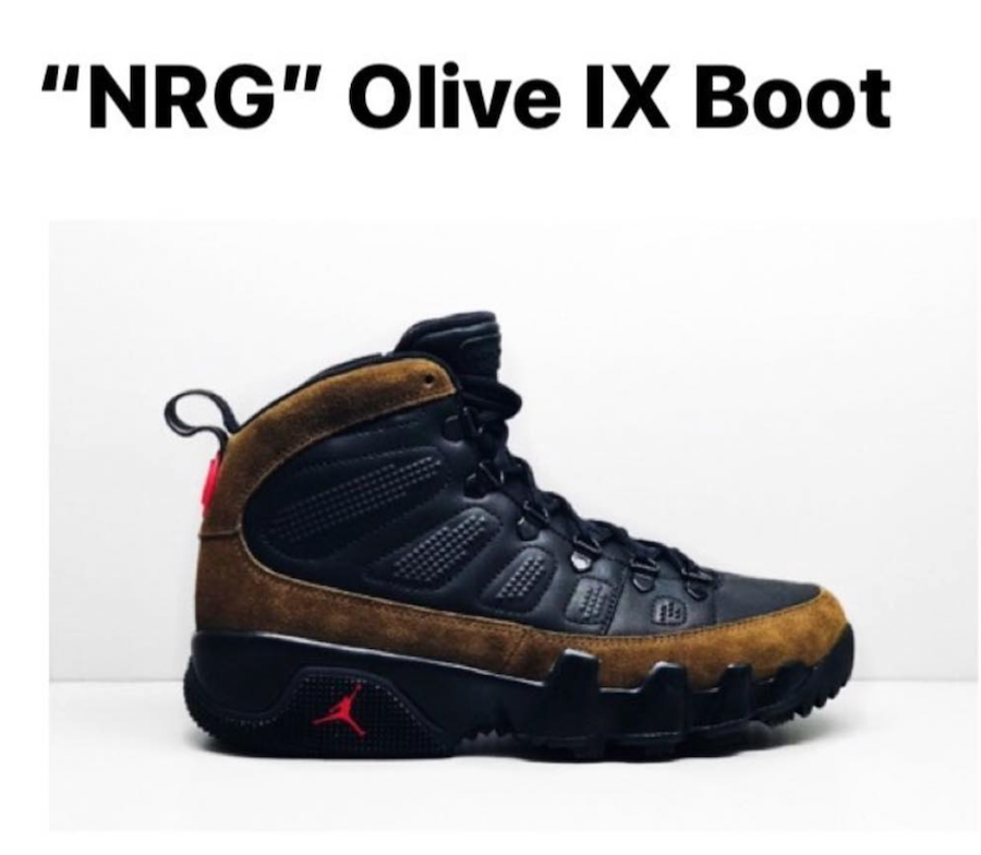 Air Jordan 9 Boot NRG Olive AO4690-012