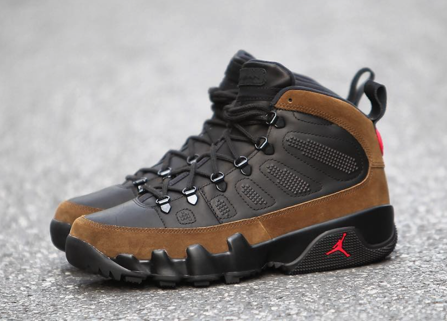 quality design ae547 eed8c Air Jordan 9 Boot NRG Olive AO4690-012 | SneakerFiles