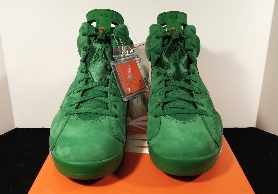 Air Jordan 6 Retro NRG Gatorade Green Orange