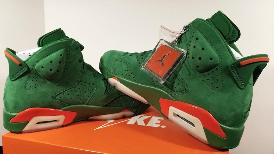 f862377d980 Air Jordan 6 Gatorade Green Suede Release Date