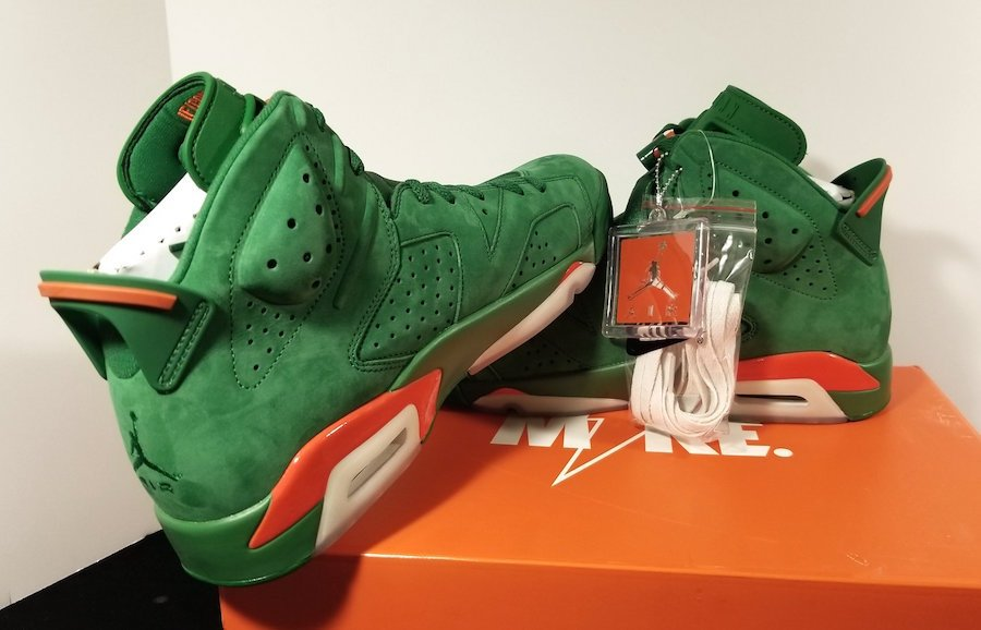 low priced fb837 ffa86 Air Jordan 6 Gatorade Green Suede Release Date | SneakerFiles