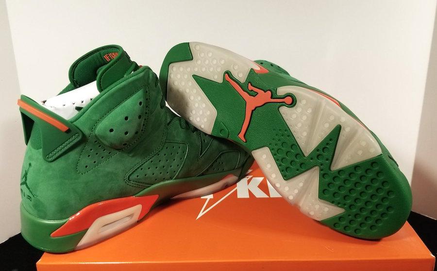buy online 143c7 26341 Air Jordan 6 Retro NRG Gatorade Green Orange