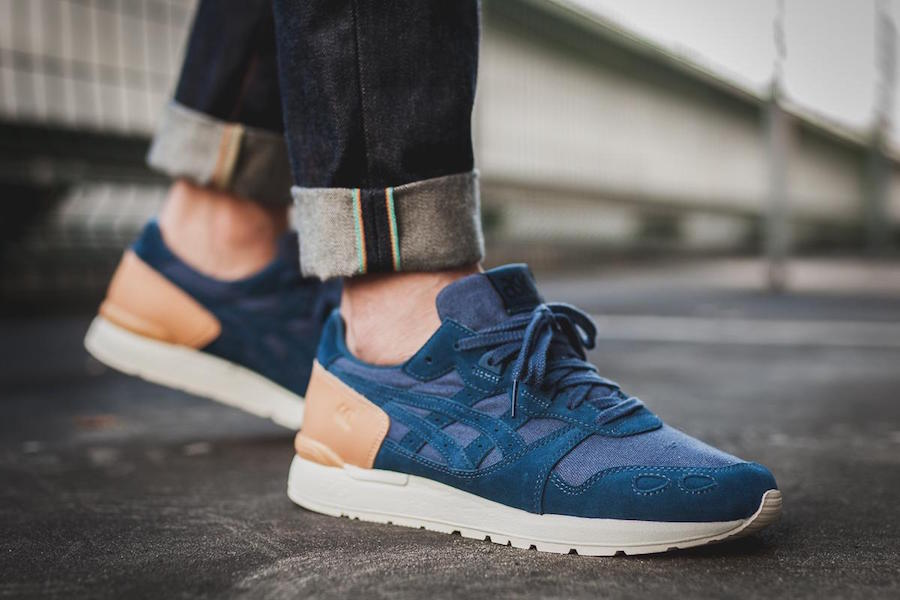 Asics Gel Lyte Dark Blue Tan